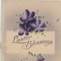 Image of A994.058.014a - Easter Blessings card, ca. 1916 (front)