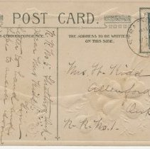 Image of St. Patrick's Day Souvenir - Glengarriffe Harbour, postcard back