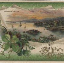 Image of St. Patrick's Day Souvenir - Glengarriffe Harbour, postcard front