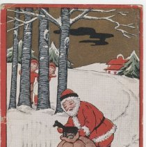 Image of A Very Merry Christmas postcard to Mrs. Kidd, front