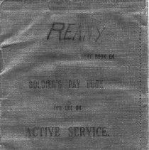 Image of A998.007.001 - Soldier's pay book for use on active service