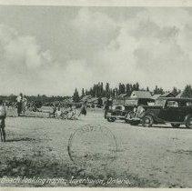 Image of Lake Huron Beach looking north, Inverhuron, Ontario, postcard front