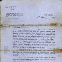 Image of A996.026.004 - Letter advising of special pension