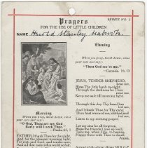 Image of A2013.008.008 Reverse - Certificate Of Baptism, Harold Stanley Seabrook, 19