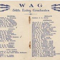 Image of A2013.008.015 P2-3 - 54th Entry, No. 2 Wireless School, April 1943 Graduati
