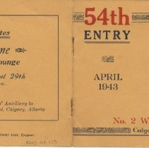Image of A2013.008.015 Cover - 54th Entry, No. 2 Wireless School, April 1943 Graduat