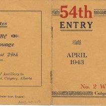 Image of A2013.008.015 - 54th Entry, No. 2 Wireless School, April 1943 [graduation program]