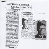 Image of A2013.008.030 Harold Seabrook - News Clippings
