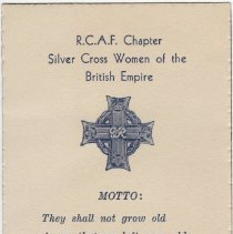 Image of A2013.008.032 Rcaf Chapter, Silver Cross Women Of The British Empire, Motto