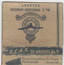 Image of A2013.008.034 - Matchbook - R.C.A.F. No. 2 Wireless School