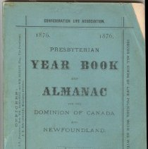 Image of 1876 Presbyterian Year Book and Almanac cover