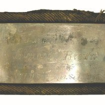 Image of 2014.037.002 - Plate, Coffin