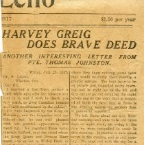 Image of A2015.121.008 - Harvey Greig does brave deed