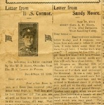 Image of A2015.121.014 - Letters from H.S. Connor and Sandy Moore, Canadian Echo