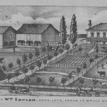 Image of Residence of William Esplen, Con. 4, Lot 8, Arran Township