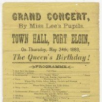 Image of Grand concert by Miss Lee's pupils, 1883, programme