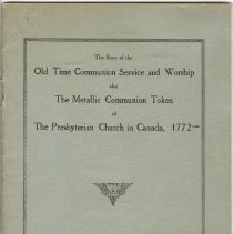 Image of The Story of the Old Time Communion Service and Worship