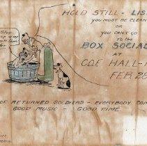 Image of Box social at C.O.F. Hall, Pinkerton