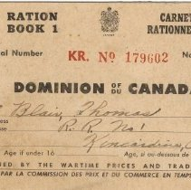 Image of Front cover, Ration Book 1, Thomas Blair