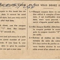 Image of Back cover, Ration Book 1, Thomas Blair