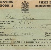 Image of Front cover, Ration Book 2, Elsie Blair