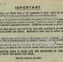 Image of Back cover, Ration Book 2, Elsie Blair