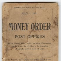 Image of Money Order Post Offices, front cover