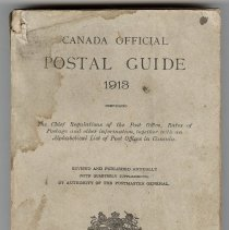 Image of Front cover, Canada Official Postal Guide 1913