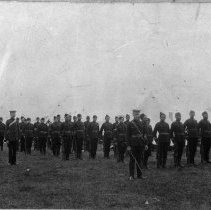 Image of 32nd Regiment with Captain George Wilson and Capt. John McLeod
