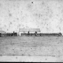 Image of Parade of Major Crozier's at Battleford