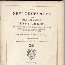 Image of Title page, The New Testament