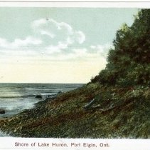 Image of Shore of Lake Huron, Port Elgin, Ont. (front)