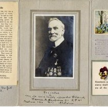 Image of AX2015.018.001 - Christmas card from A.E. Belcher to James Chapman