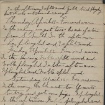 Image of James Rowand Burgess Apr 11 - Apr 22 1918 diary entries