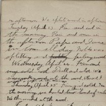 Image of James Rowand Burgess Apr 23 - May 1 1918 diary entries