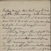 Image of James Rowand Burgess May10 - May 16 1918 diary entries