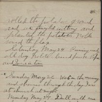 Image of James Rowand Burgess May 25 - June 1 1918 diary entries