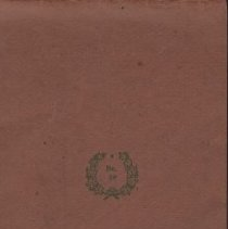 Image of James Rowand Burgess diary covers 1918