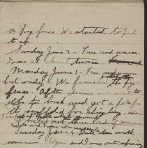 Image of James Rowand Burgess June 2 - June 8 1918 diary entries