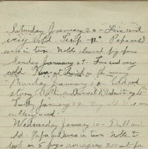 Image of James Rowand Burgess Jan 26 - Feb 6 1918 Diary Entries