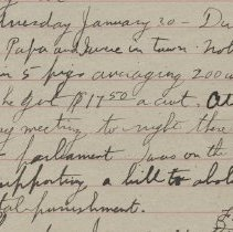 Image of James Rowand Burgess Jan 30 1918 diary entry