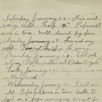 Image of ames Rowand Burgess Jan 26 - 30 1918 diary entries