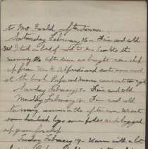 Image of ames Rowand Burgess Feb 16 - Feb 25 1918 diary entries