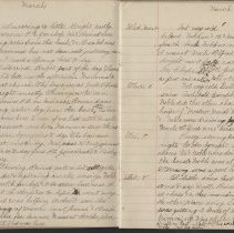 Image of Olive Burgess diary, Mar 1-8 1924