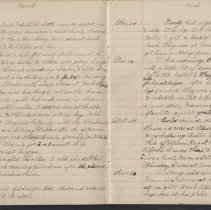 Image of Olive Burgess diary, Mar 9-16 1924