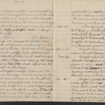 Image of Olive Burgess diary, Mar 17-25 1924