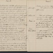 Image of Olive Burgess diary, Mar 26 - Apr 1 1924