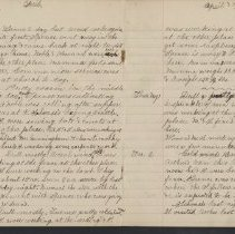 Image of Olive Burgess diary, Apr 27 - May 2 1924