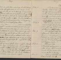 Image of Olive Burgess diary, May 3-11 1924