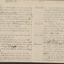 Image of Olive Burgess diary, Jan 1-10 1925